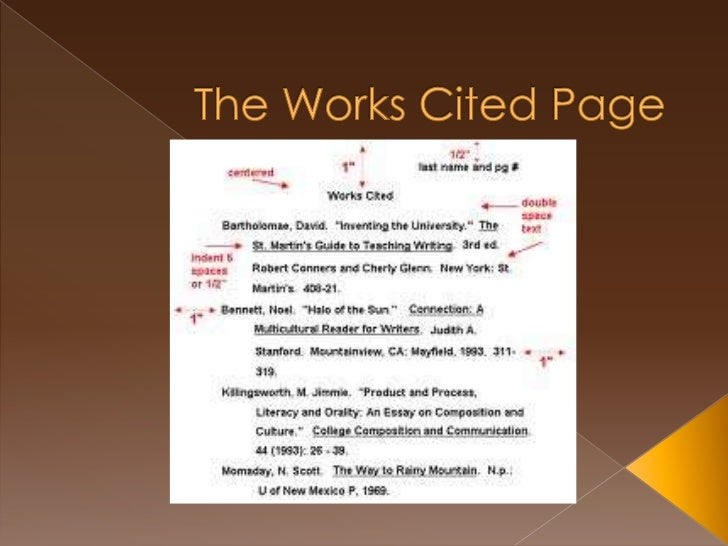 Is a work cited page considered a page?