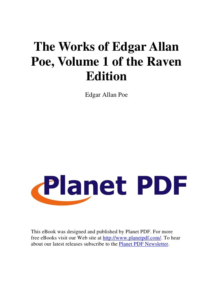 The Works of Edgar Allan Poe, Volume 1 of the Raven          Edition                         Edgar Allan Poe     This eBoo...