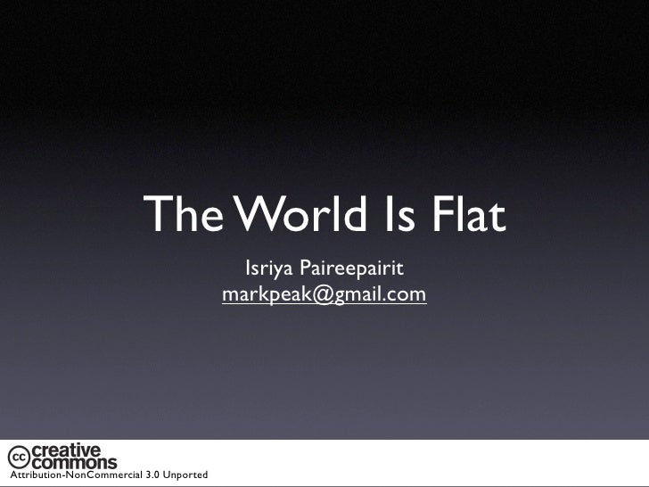 [Book];[The world is flat]