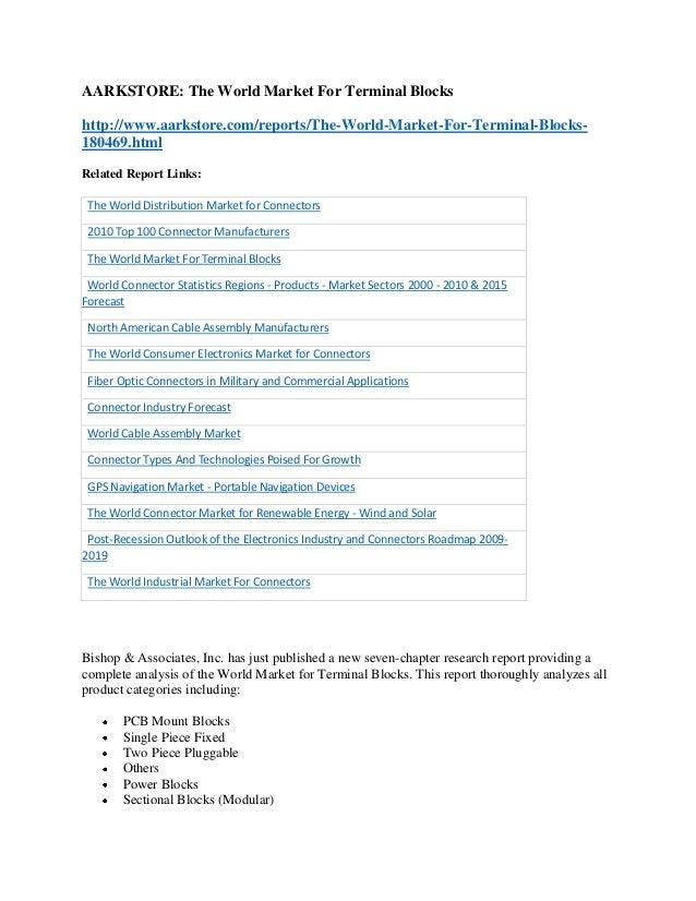 The world market for terminal blocks