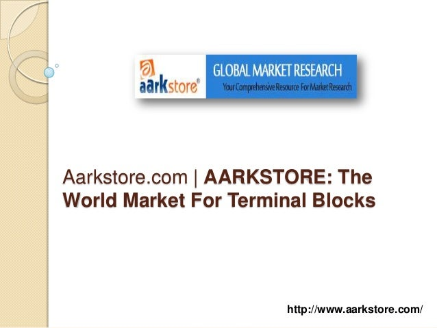The world market for terminal blocks