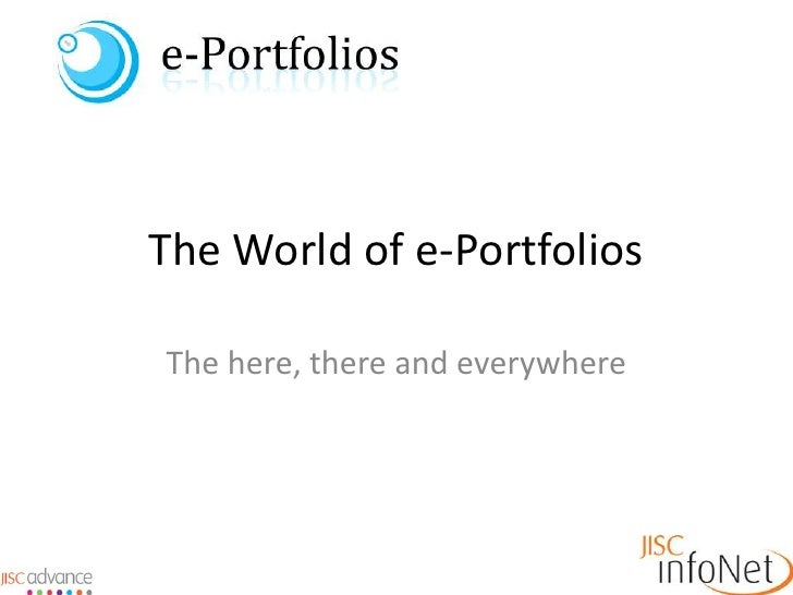 The World of e-Portfolios<br />The here, there and everywhere<br />