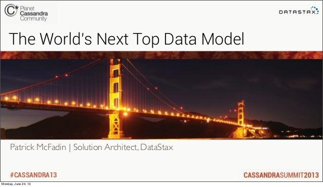 #CASSANDRA13Patrick McFadin | Solution Architect, DataStaxThe Worlds Next Top Data ModelMonday, June 24, 13