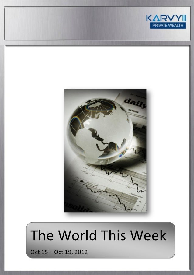 The World This Week   October 15 - October 19 2012
