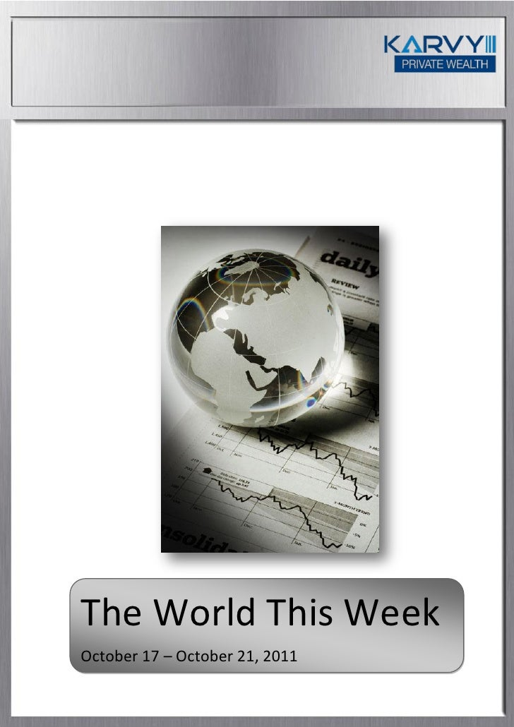 The World This WeekOctober 17 – October 21, 2011