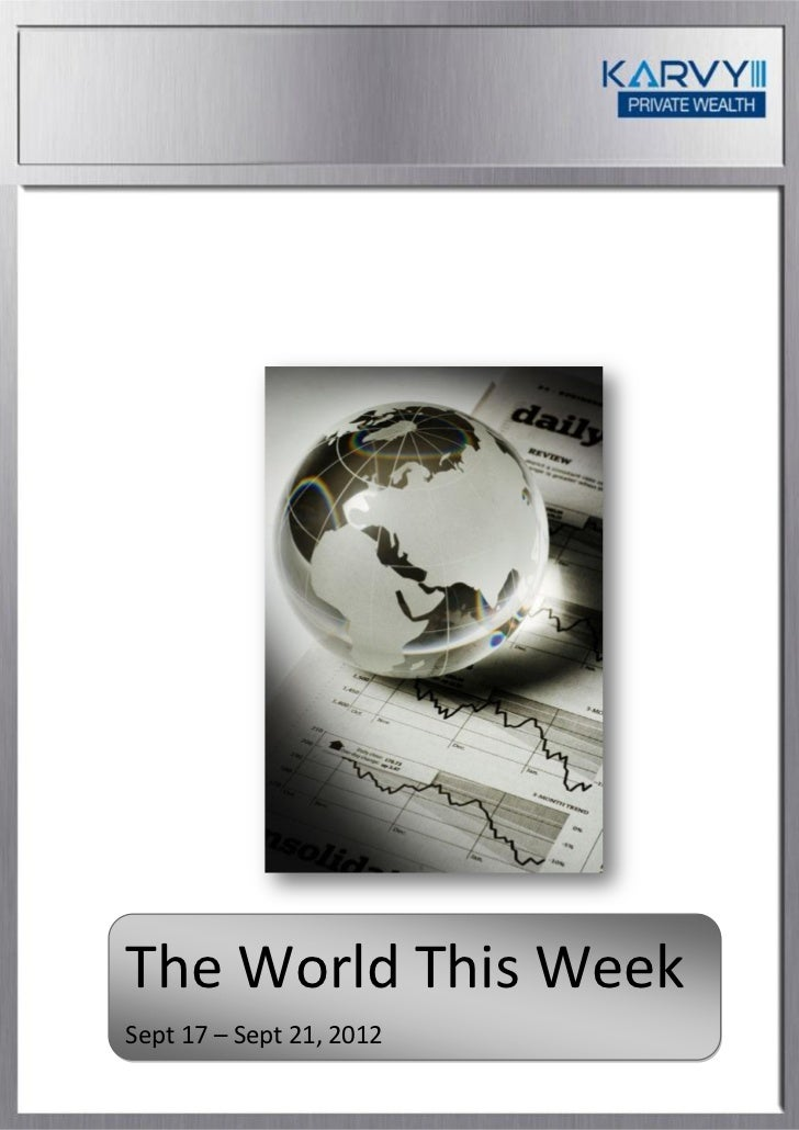 The world this week September 17 - September 21 2012