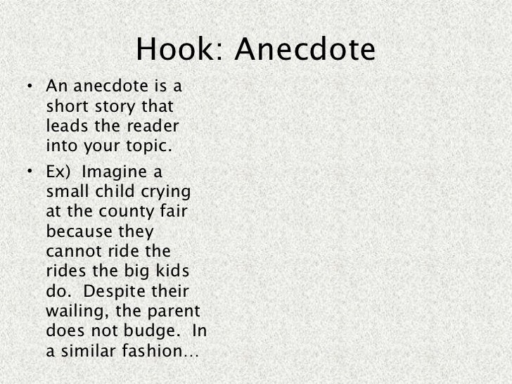 anecdotes example for essays