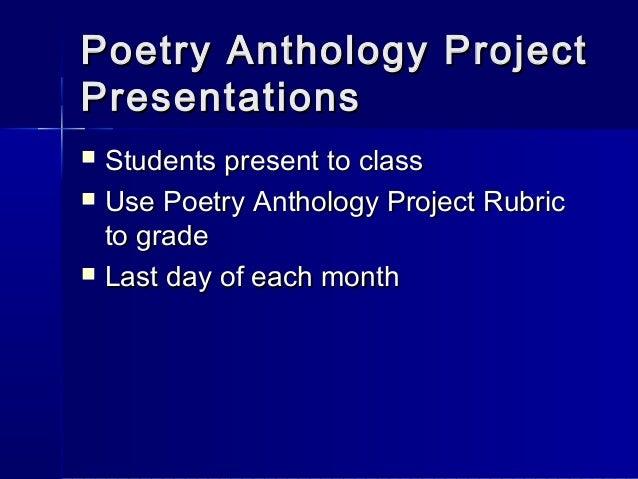 Poetry Anthology Project Poetry Anthology Projectpoetry