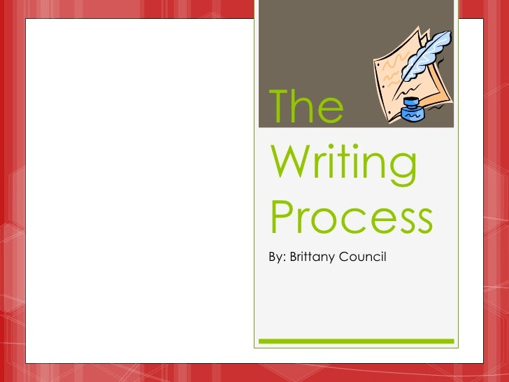 TheWritingProcessBy: Brittany Council