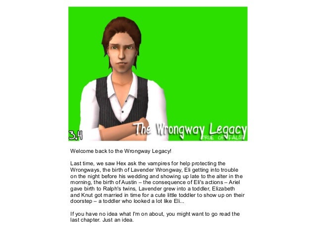 Welcome back to the Wrongway Legacy! Last time, we saw Hex ask the vampires for help protecting the Wrongways, the birth o...