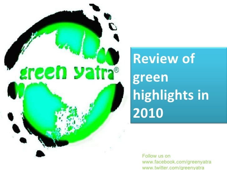 The year of 2010 for environment