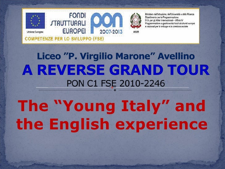 "The ""Young Italy"" and the English experience"
