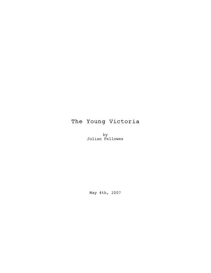 The young victoria script