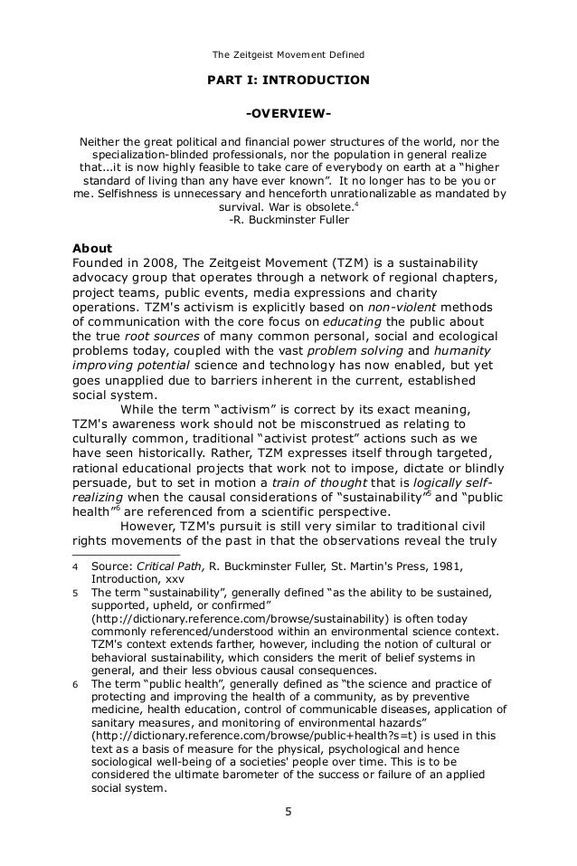 The zeitgeist movement_defined_6_by_9