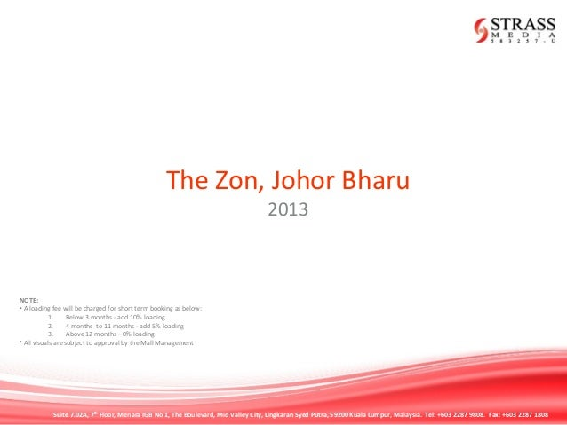 THE ZON JB RATECARD