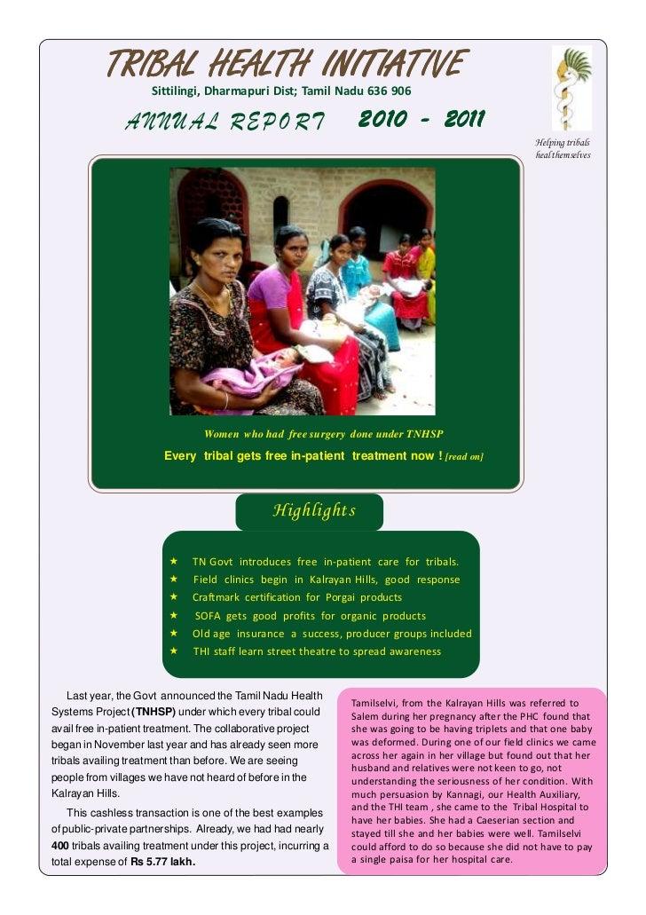 Tribal Health Initiative report_2011