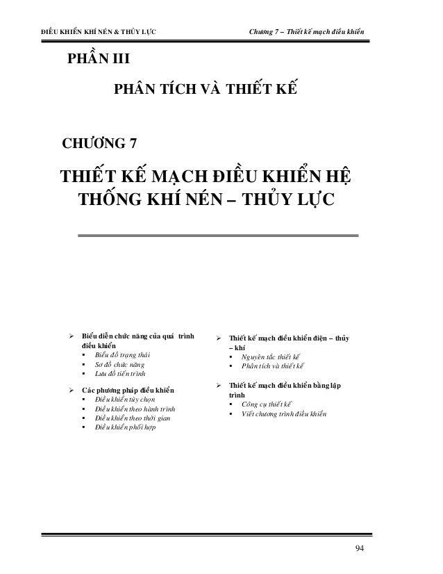 """Thu Vien Sach Co Khi"" – Thiet ke mach dieu khien he thong khi nen va thuy luc"