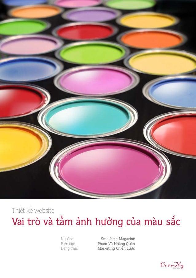 Thiet ke website - Tac Dong Cua Mau Sac