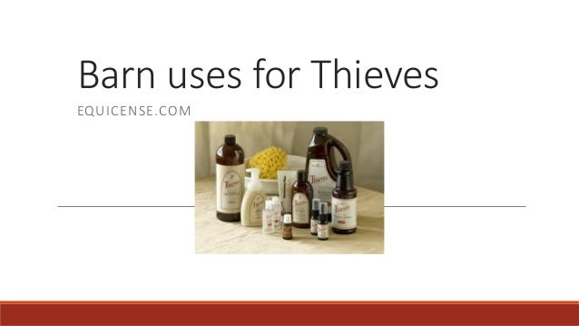Barn uses for Thieves EQUICENSE.COM