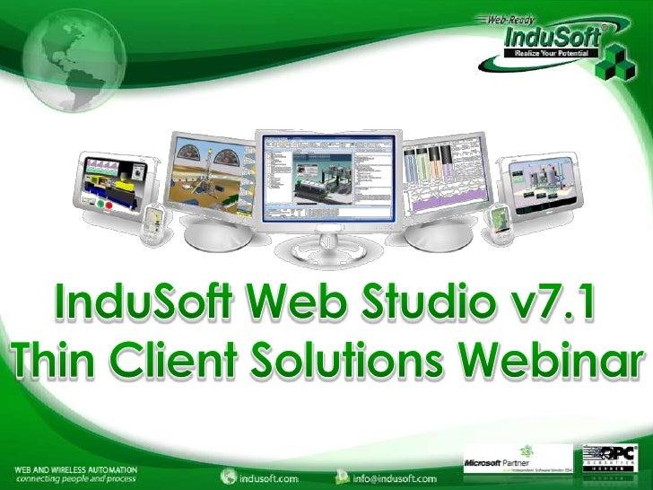 InduSoft Thin Client Webinar 2012