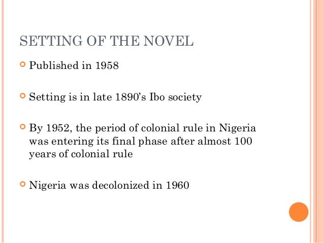 What is the conflict in Things Fall Apart by Chinua Achebe?