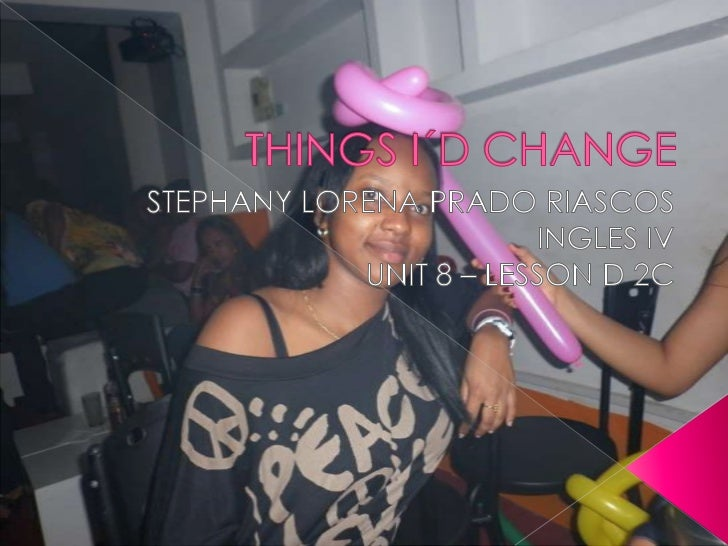 Things i´d change blog 3