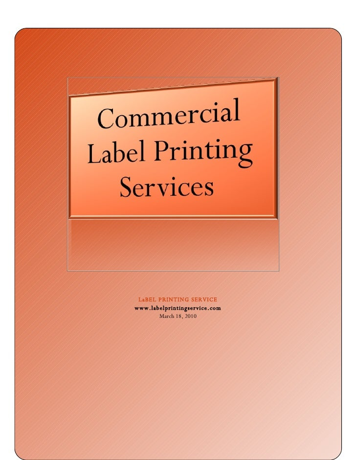 Things To Consider While  Commercial  Label  Printing