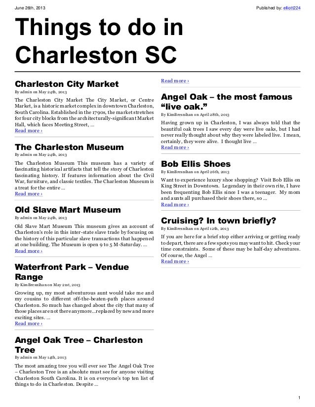 Things to do in charleston sc for What to do in summerville sc