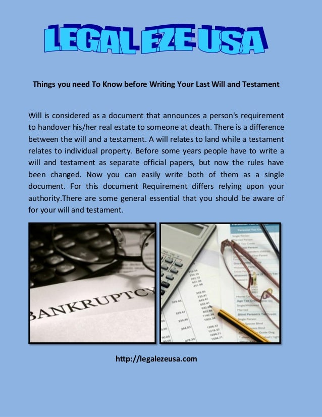 Writing your last will and testament