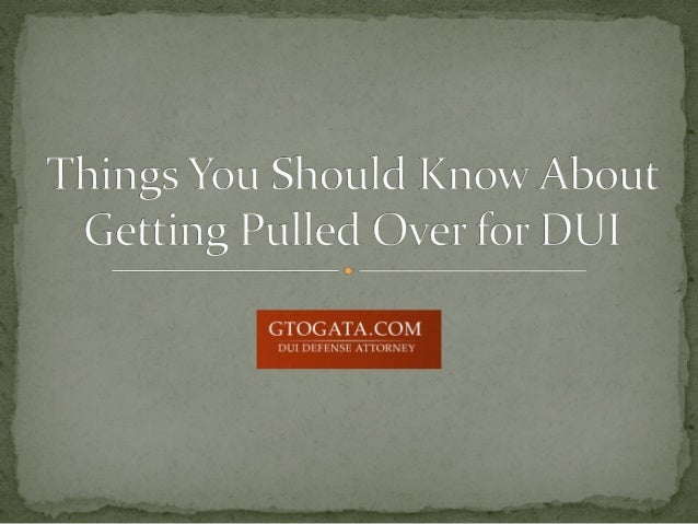  If you get pulled over by the police, you should remain as calm as possible.  Be respectful, but remember that you don'...