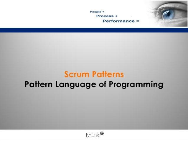 Scrum PatternsPattern Language of Programming