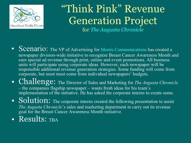 Think Pink Ad Revenue Presentation