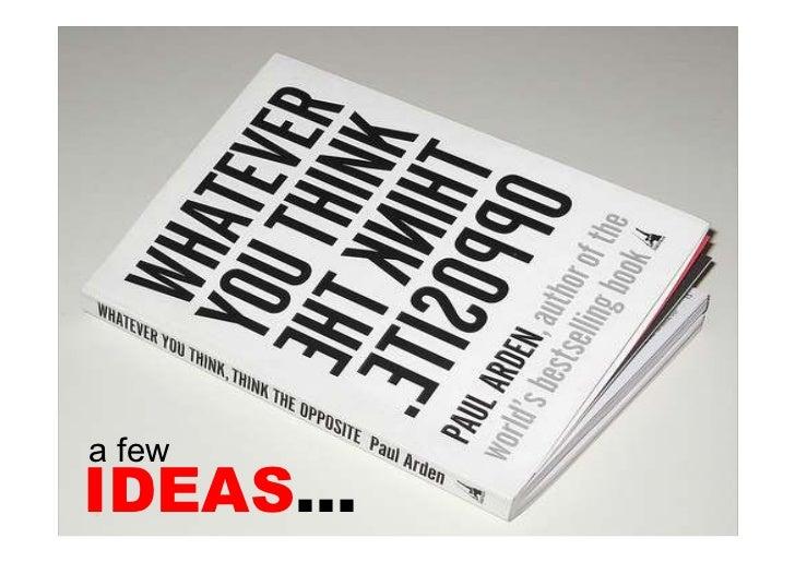 a few IDEAS…