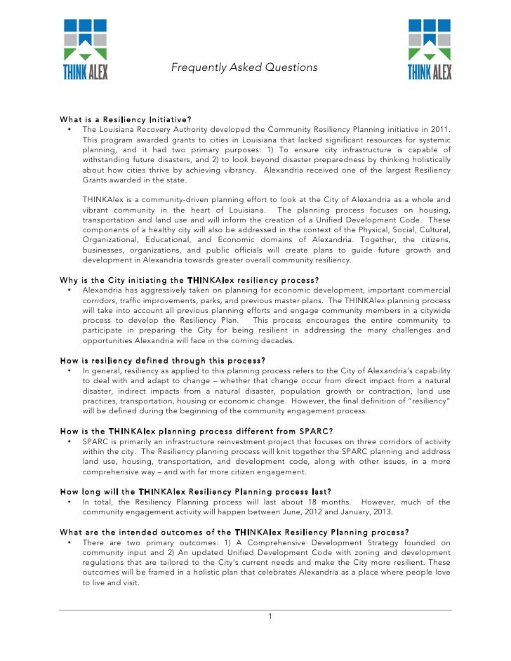 THINKAlex FAQ