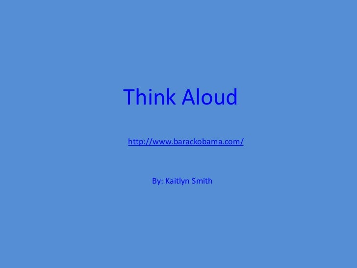 Think aloud for Website Validation