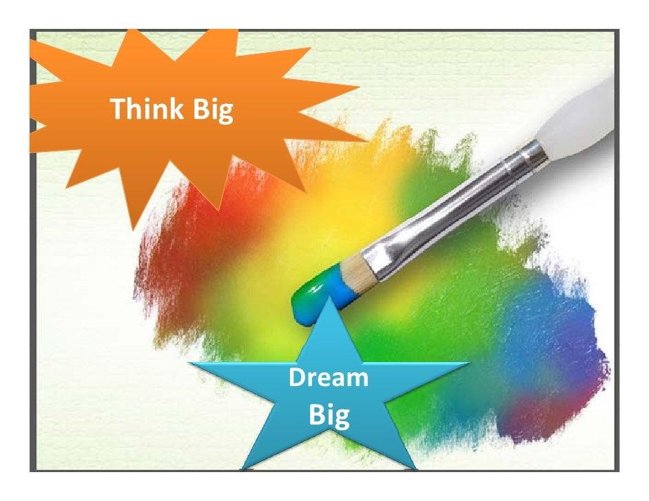 ThinkBig                 Dream              Big              Bi
