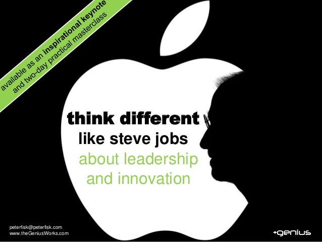 think different                          like steve jobs                          about leadership                        ...