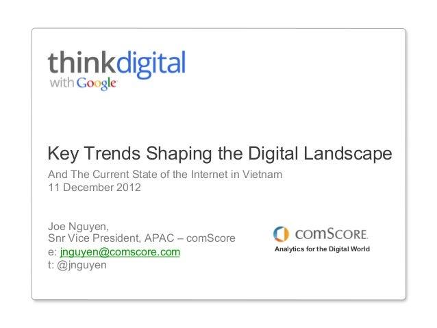 comScore's Presentation Google's Think Digital Vietnam 11-Dec-2012