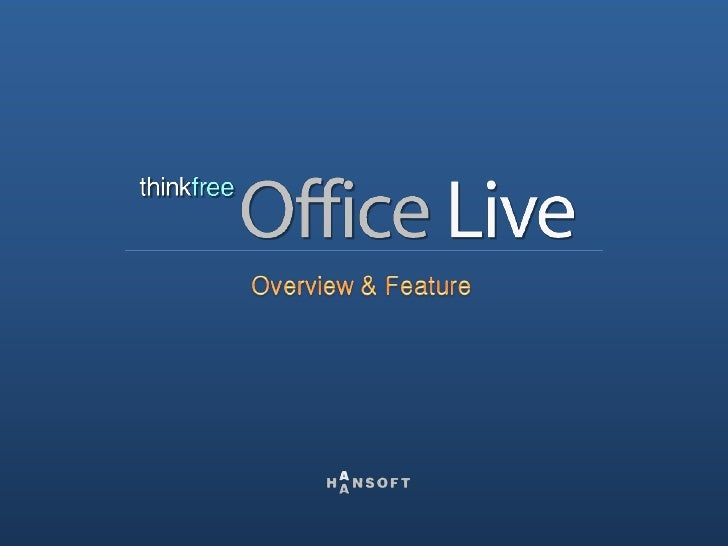 This is the main page of ThinkFree Office Live.