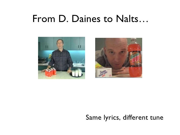 From D. Daines to Nalts… Same lyrics, different tune