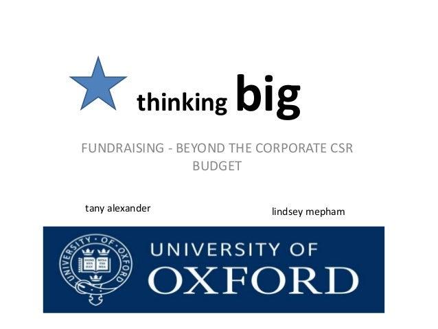 Thinking big   beyond the corporate csr budget