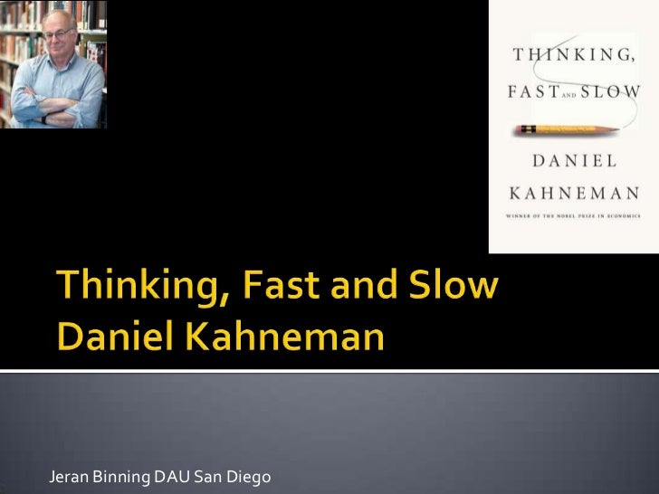Thinking fast and_slow