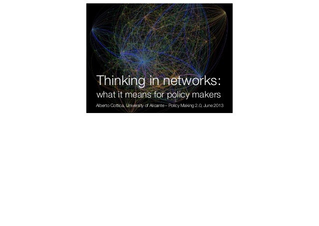 Thinking in networks: what it means for policy makers