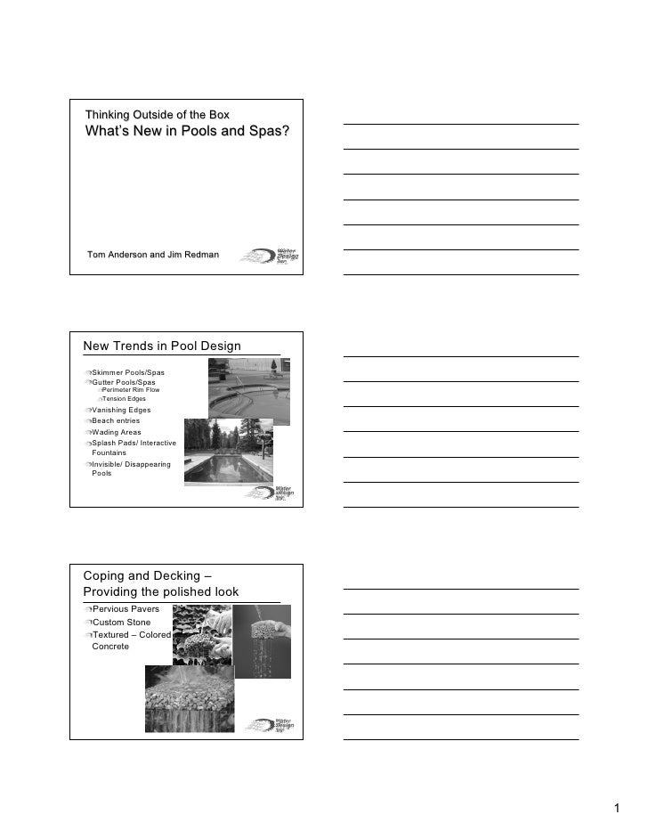 Thinking Outside The Box Handouts Tom Anderson