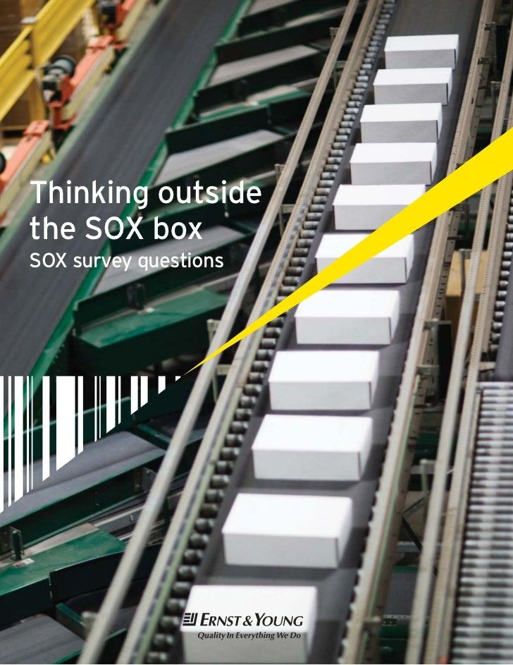Thinking outsidethe SOX boxSOX survey questions