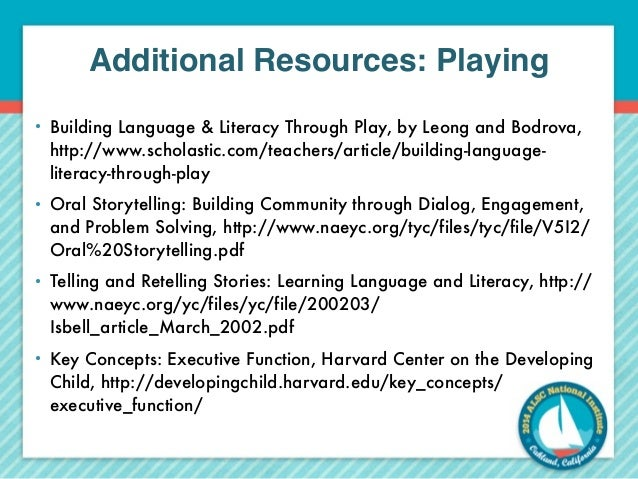 the development of language and literacy through playing video games To implement literacy-rich environments language and literacy exploration with games and for growth in literacy development through.