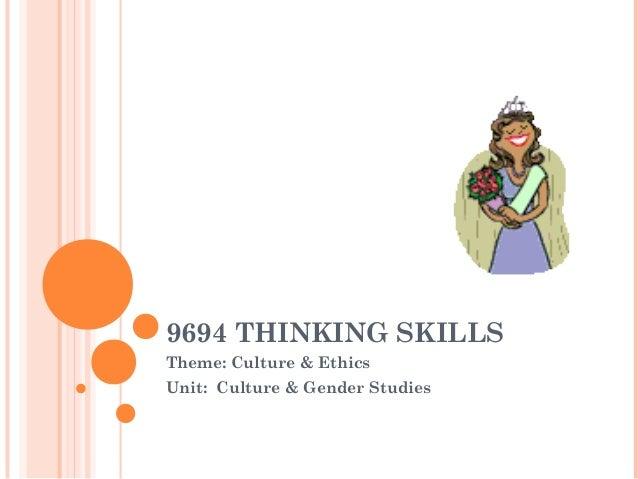 Thinking skills beauty
