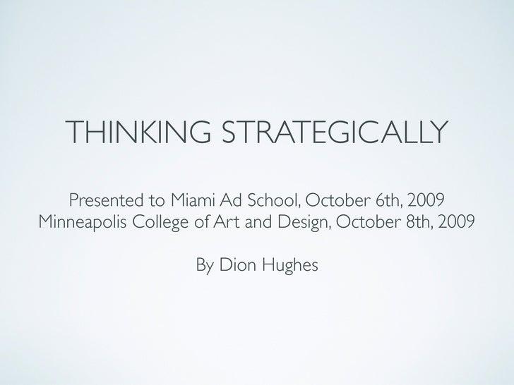 Thinkingstrategically