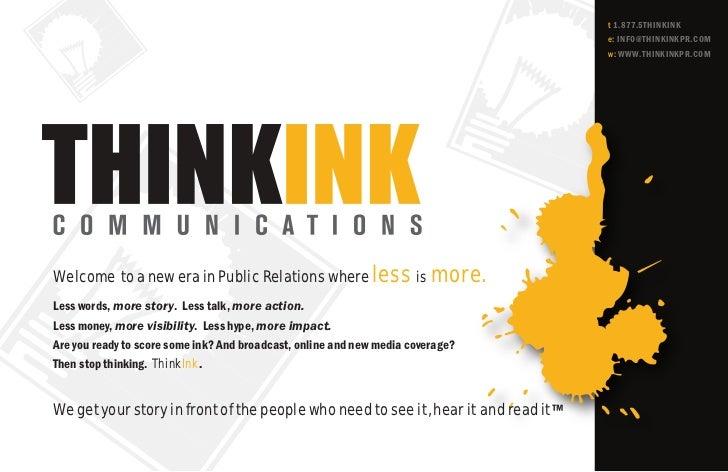 Thinkink brochure