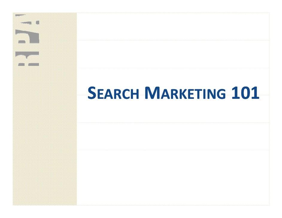 SEARCH MARKETING 101